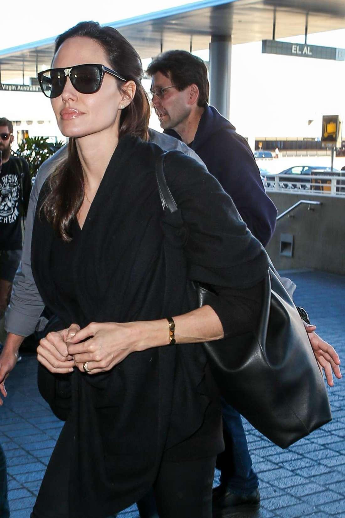 Angelina Jolie Arrives At Los Angeles International Airport Gotceleb