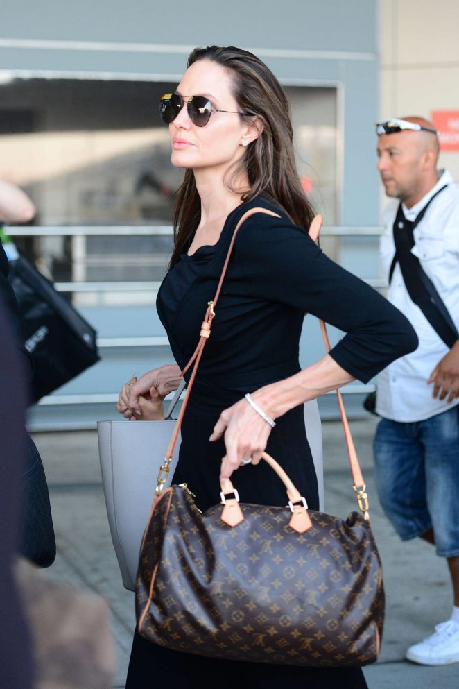 Angelina Jolie - Arriving at JFK Airport in New York