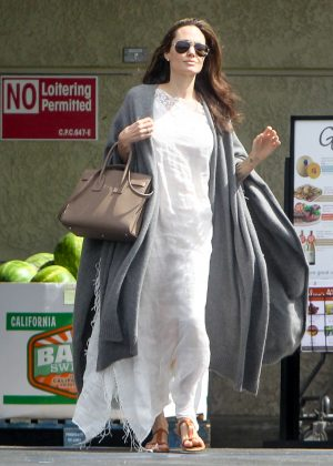 Angelina Jolie at Gelson's Market in LA