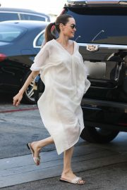 Angelina Jolie at the Yves Saint Laurent Store in Beverly Hills