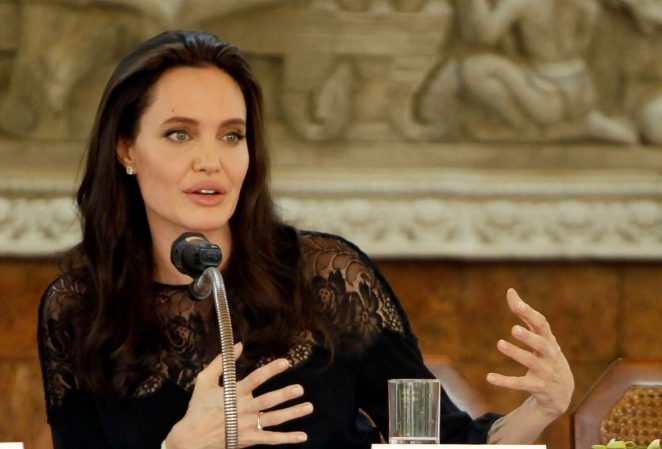 Angelina Jolie: First They Killed My Father Press Conference -07