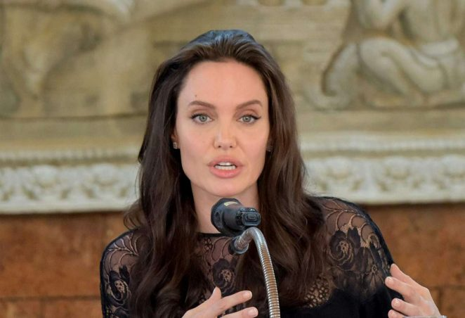 Angelina Jolie: First They Killed My Father Press Conference -08