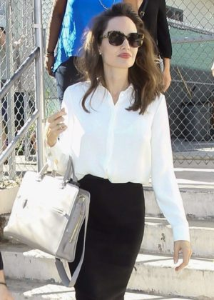 Angelina Jolie - 'First They Killed My Father' Screening at the Girls Academic Leadership Academy School in LA