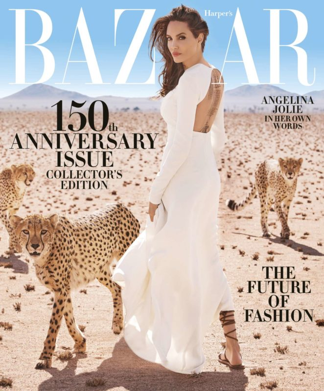 Angelina Jolie - Harper's Bazaar Magazine (November 2017)