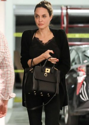 Angelina Jolie - Heads to a business meeting in Beverly Hills