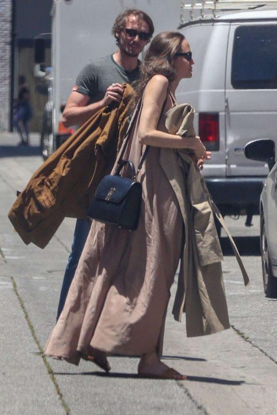 Angelina Jolie in Long Dress-06