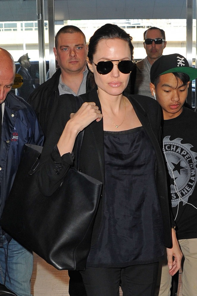 Angelina Jolie - JFK airport in NYC