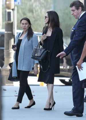 Angelina Jolie - Leaves LA Times building in Los Angeles