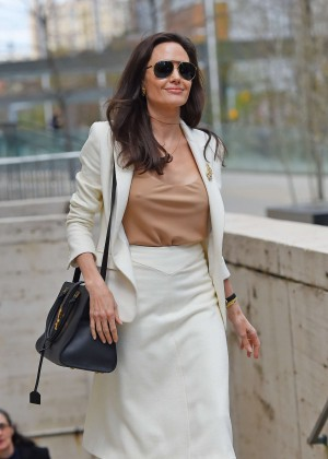 Angelina Jolie - Leaving the Lincoln Center in NYC