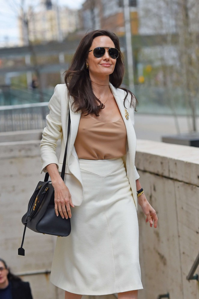 Angelina Jolie – Leaving the Lincoln Center in NYC