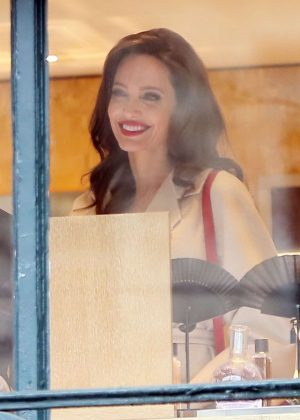Angelina Jolie - Seen at Guerlain Perfumes Shop in Paris