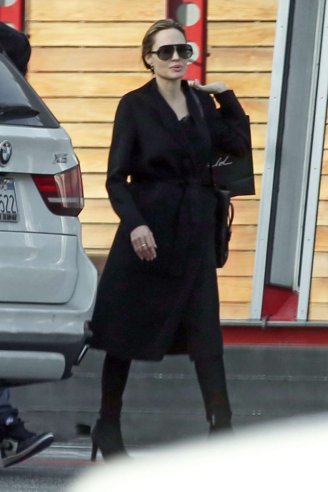 Angelina Jolie - Shopping at Maxfield in West Hollywood