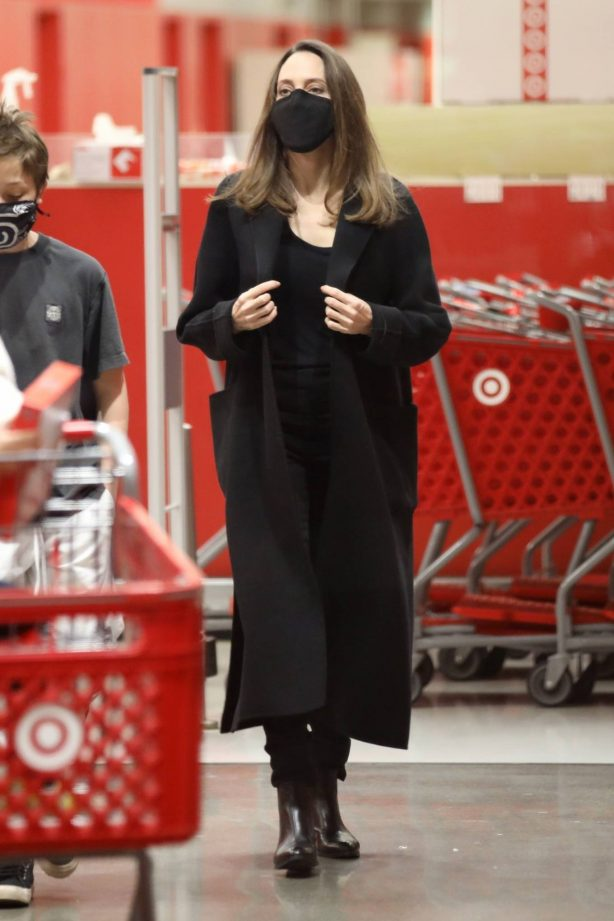 Angelina Jolie -Shopping at Target with her son in Los Angeles