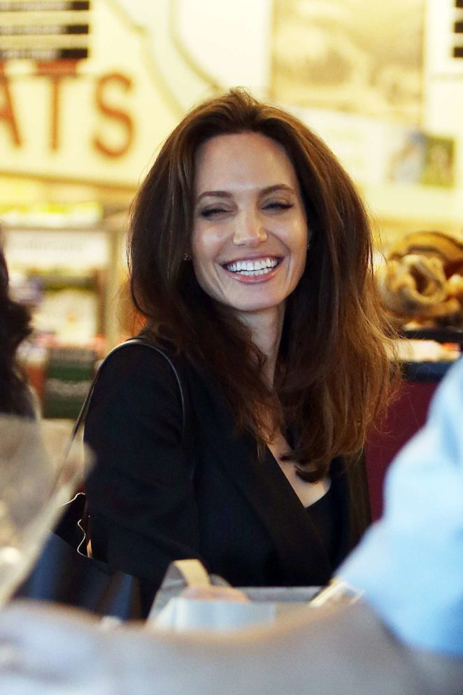 Angelina Jolie - Shopping Candids at Gelsons Markets in Los Feliz
