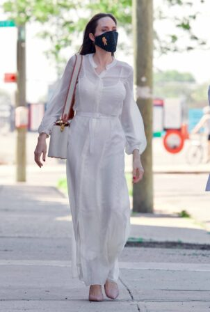 Angelina Jolie - stepped out in Brooklyn