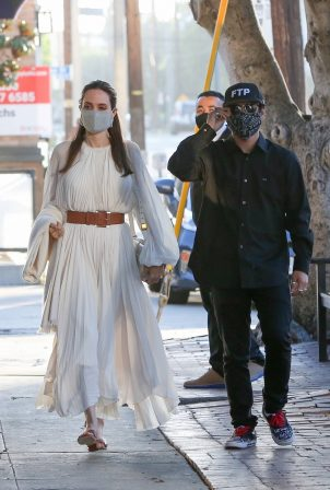 Angelina Jolie - Steps out with her son in West Hollywood