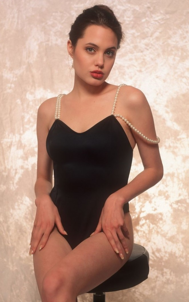 Angelina Jolie - Swimsuit Photoshoot 1991