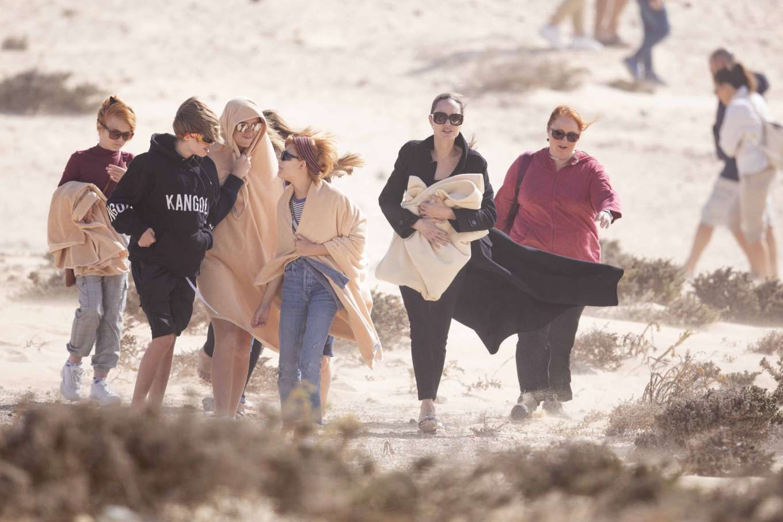 Angelina Jolie 2019 : Angelina Jolie – Take a break from filming on the beach in Fuerteventura-08