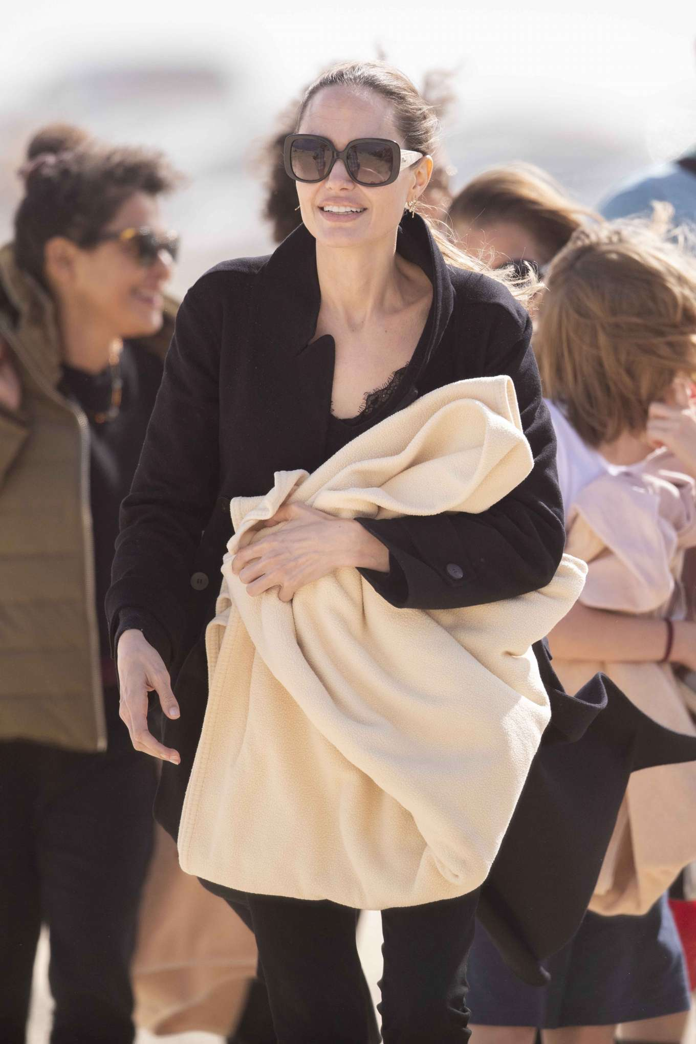 Angelina Jolie 2019 : Angelina Jolie – Take a break from filming on the beach in Fuerteventura-09