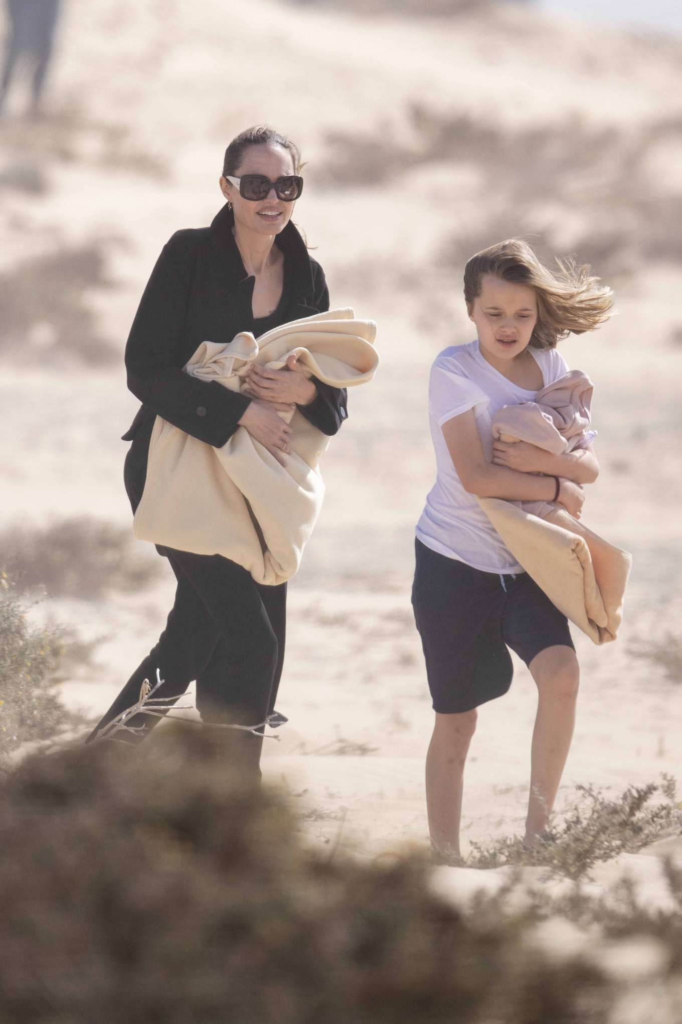 Angelina Jolie 2019 : Angelina Jolie – Take a break from filming on the beach in Fuerteventura-11