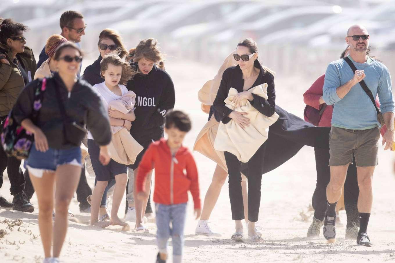 Angelina Jolie 2019 : Angelina Jolie – Take a break from filming on the beach in Fuerteventura-12