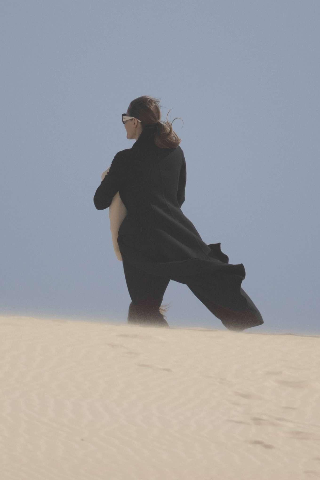 Angelina Jolie 2019 : Angelina Jolie – Take a break from filming on the beach in Fuerteventura-14