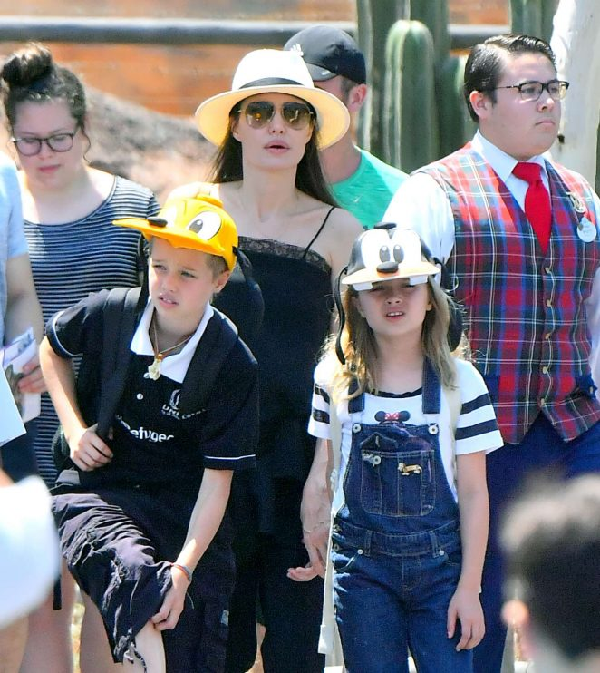 Angelina Jolie - Takes her kids to Disneyland to celebrate Knox and Vivienne birthday in Anaheim