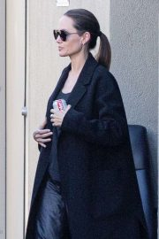 Angelina Jolie - Visiting a movie studio building in Universal City