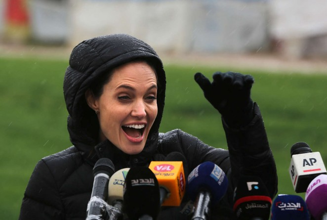 Angelina Jolie – Visits a refugee camp in Lebanon