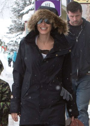 Angelina Jolie with her kids out in Crested Butte