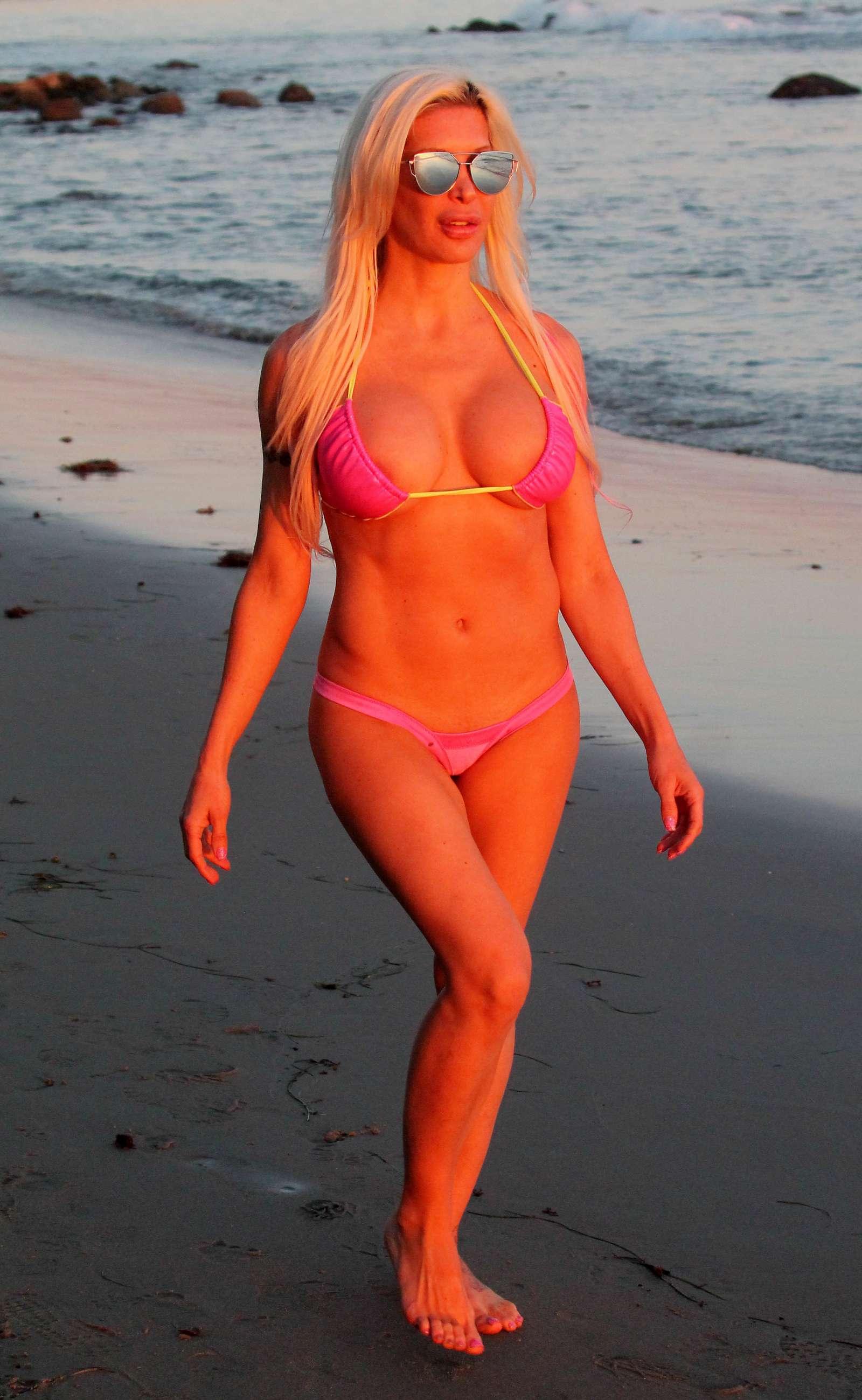 Frenchy Morgan in Pink Bikini in Malibu Pic 29 of 35