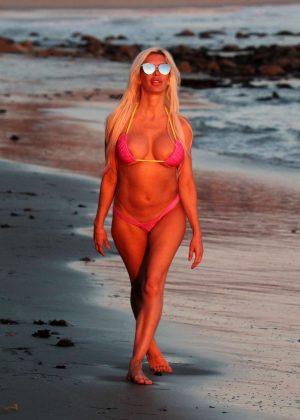 Frenchy Morgan in Pink Bikini in Malibu Pic 32 of 35