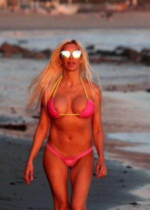 Frenchy Morgan in Pink Bikini in Malibu Pic 11 of 35