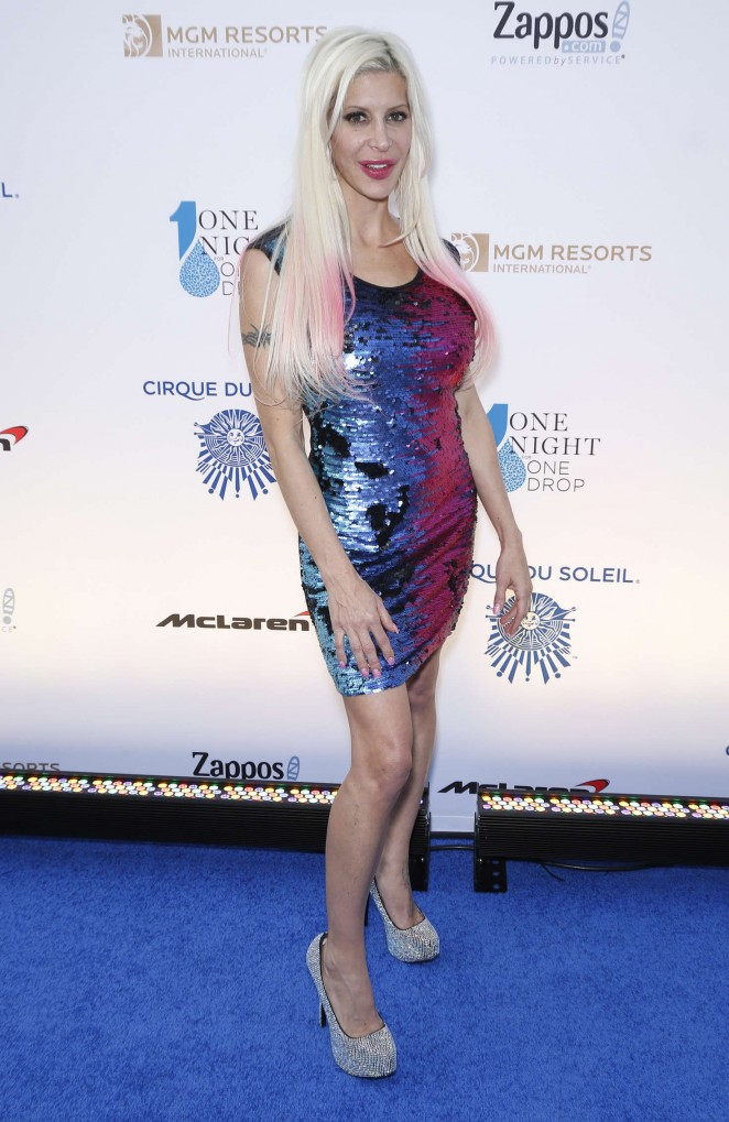 Angelique Frenchy Morgan - One Night for ONE DROP Blue Carpet in Las Vegas