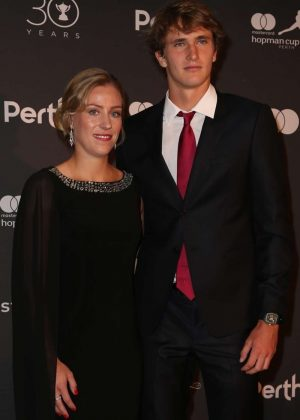 Angelique Kerber and Alexander Zverev - Hopman Cup New Years Eve Players Ball in Perth