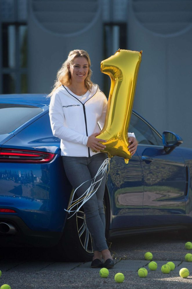Angelique Kerber - Poses for Advertising Photographs and at a Press Conference in Munich