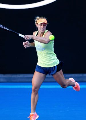 Angelique Kerber - Practice Session at the Australian Open 2018 in Melbourne