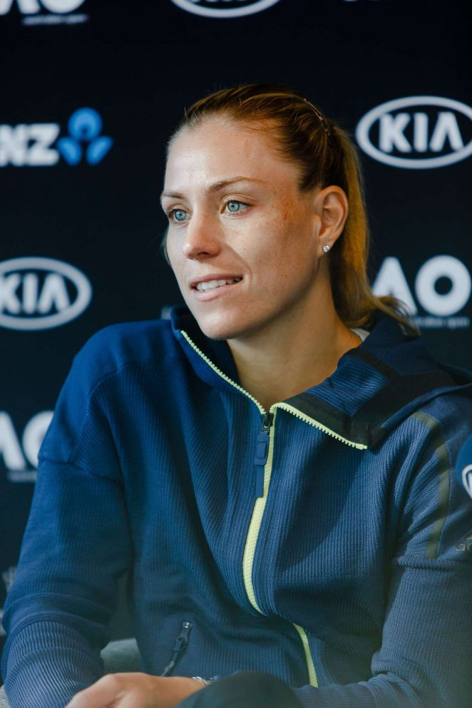 Angelique Kerber - Press Conference before the Australian Open 2018 in Melbourne