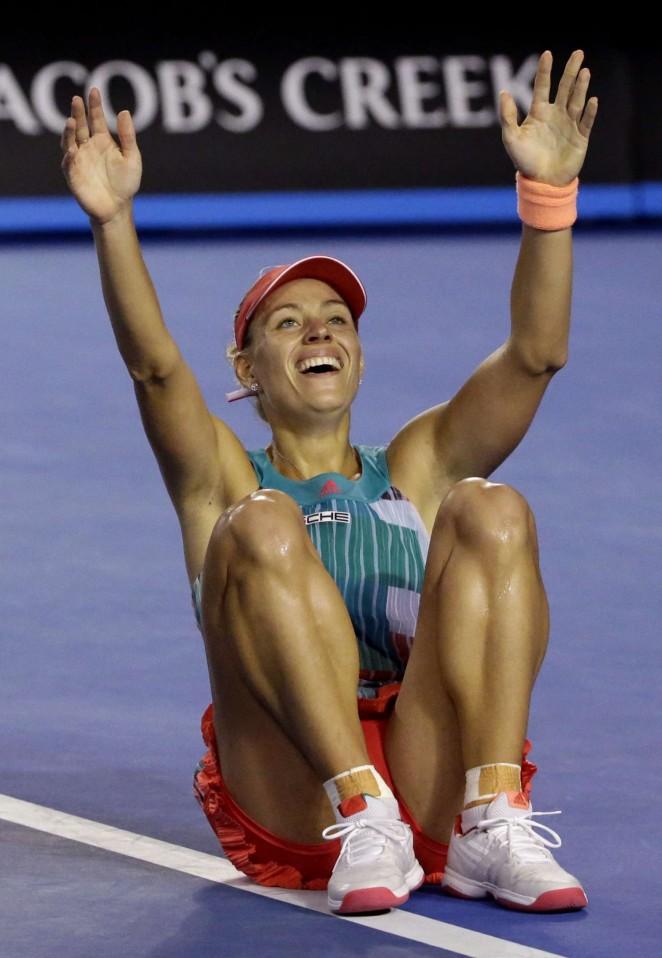Angelique Kerber 2016 : Angelique Kerber vs Serena Williams: Womens singles final at the Australian Open in Melbourne-11