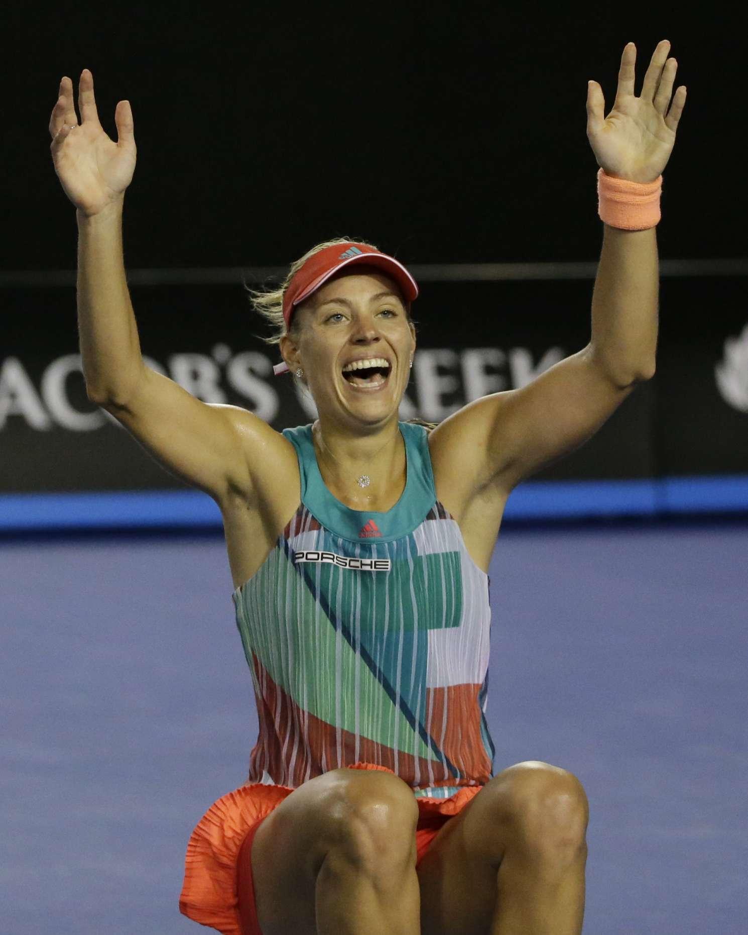 Angelique Kerber 2016 : Angelique Kerber vs Serena Williams: Womens singles final at the Australian Open in Melbourne-12