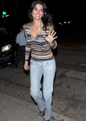 Angie Harmon at Craigs restaurant in West Hollywood