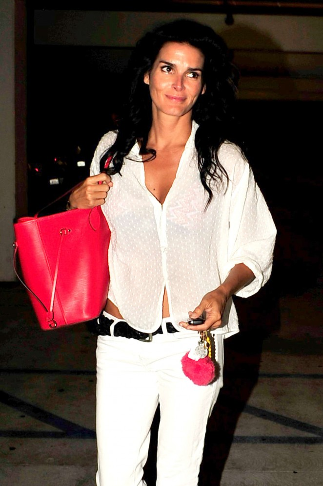 Angie Harmon - Leaving the ArcLight Theater in Hollywood
