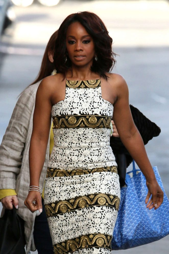 Anika Noni Rose - Arriving at Jimmy Kimmel Live in Los Angeles