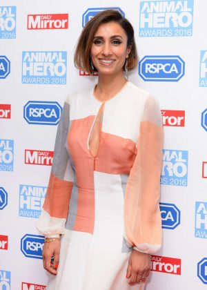 Anita Rani - 2016 Daily Mirror and RSPCA Animal Hero Awards in London