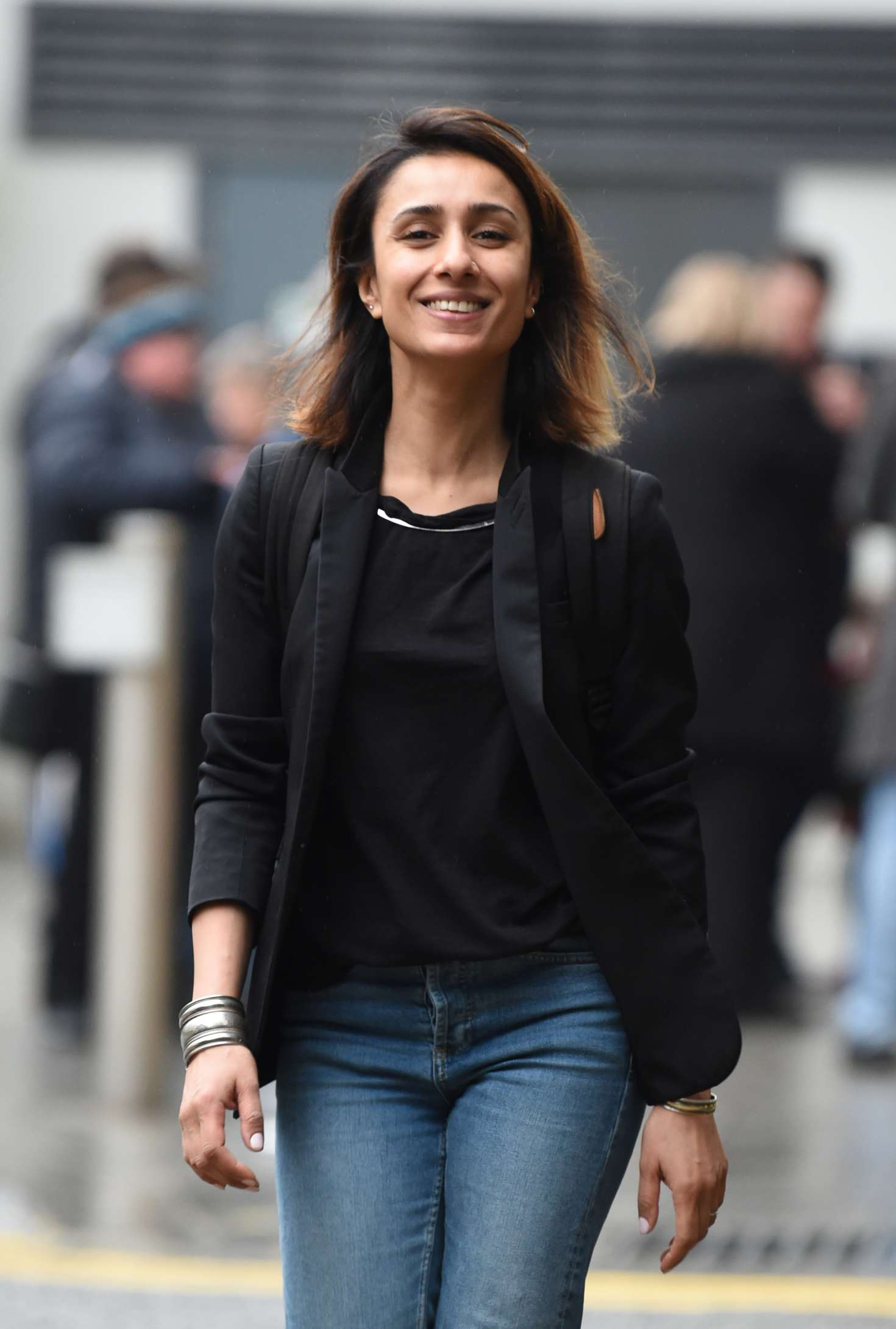 Anita Rani in Jeans out in Birmigham