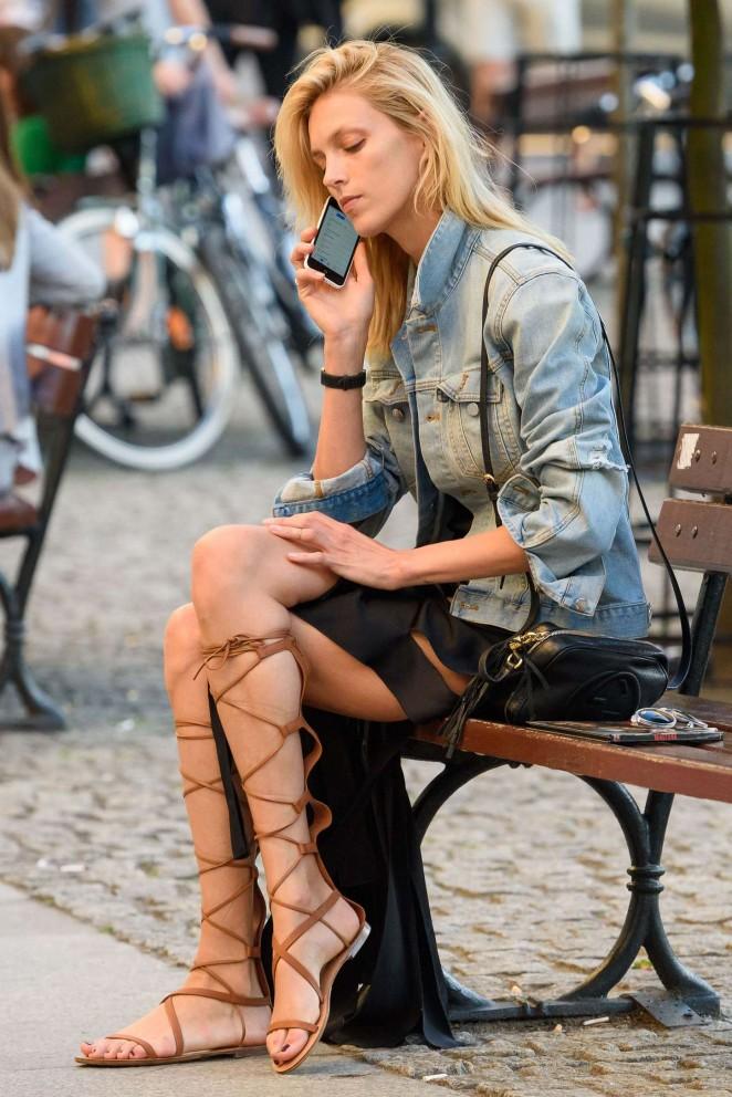 Anja Rubik out in Warsaw
