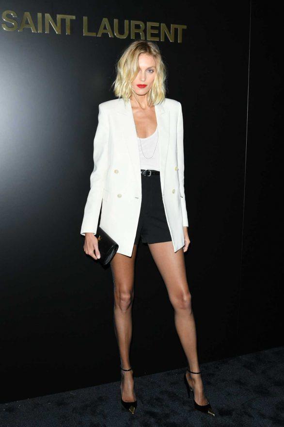 Anja Rubik - Saint Laurent Show at Paris Fashion Week 2020