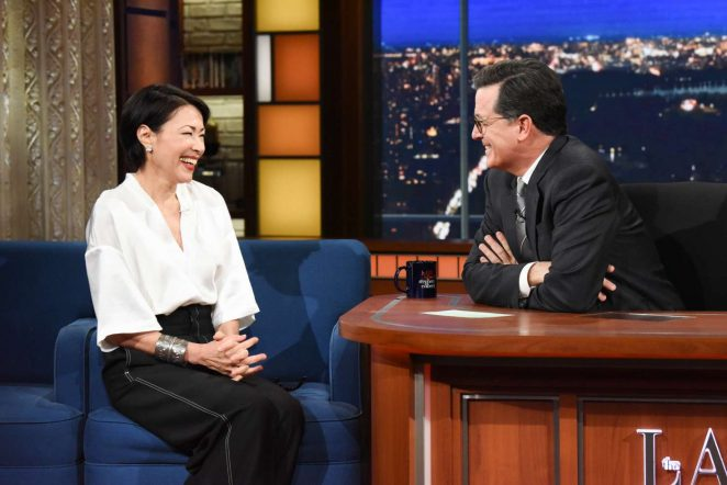 Ann Curry - 'The Late Show with Stephen Colbert' in NY