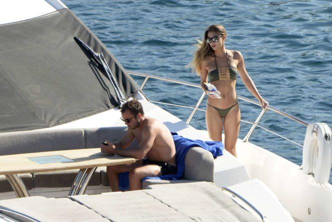 Ann-Kathrin Brommel: Hot in a bikini while on a yacht in Mallorca-09
