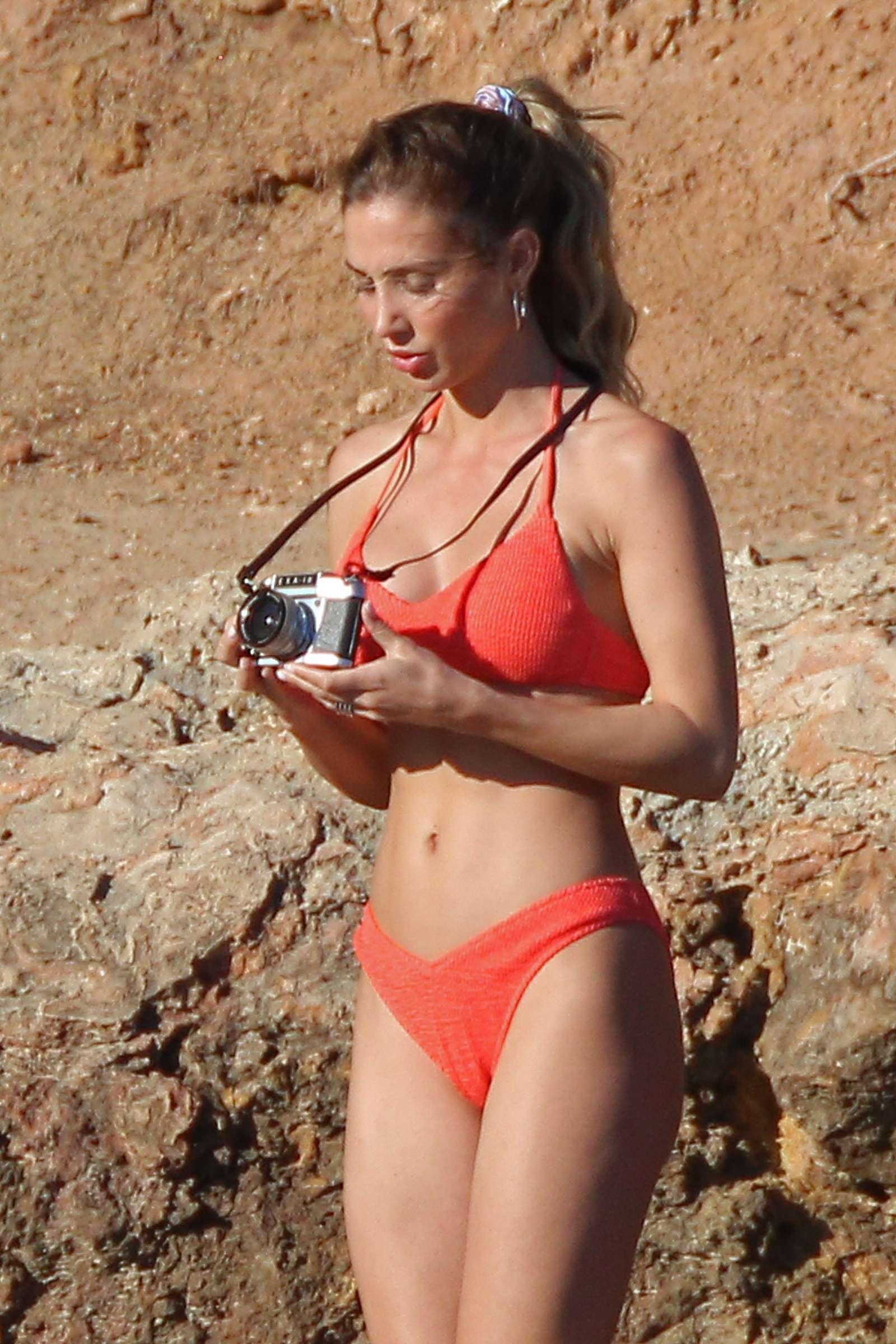 Ann-Kathrin Brommel in Bikini on a photoshoot in Ibiza